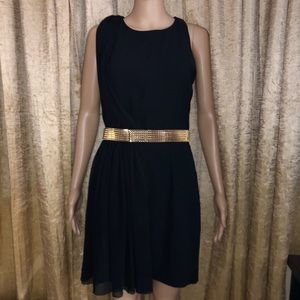 NWOT Mango Black Midi Evening Party dress Size S